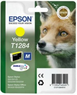 Epson Tusz T1284 Yellow do SX125/SX130/SX425W/SX430
