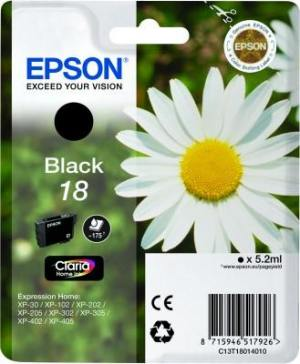 Epson Tusz T1801 Czarny 5.2ml do XP-30/102/20x/30x/40x