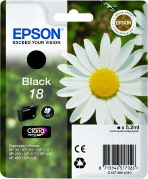 Epson Tusz T1801 Czarny 5.2ml do XP-30/102/20x/30x/40x