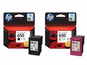 Zestaw HP 650 CZ101AE, CZ102AE Czarny + Kolor