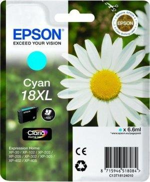 Epson Tusz T1812 CYAN 6.6ml do XP-30/102/20x/30x/40x