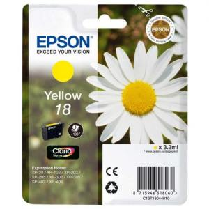 Epson Tusz T1804 YELLOW  3.3ml do XP-30/102/20x/30x/40x