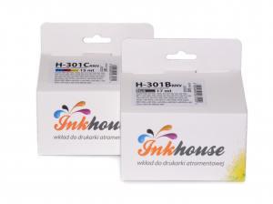 Zestaw Inkhouse HP 301XL czarny+kolor (CH563EE CH564EE)