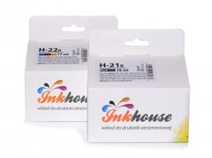 Zestaw Inkhouse HP 21 + HP 22 czarny + kolor C9351AE C9352AE