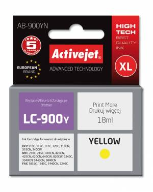 Tusz Activejet AB-900YN (Brother LC900Y) supreme XL 18ml yellow