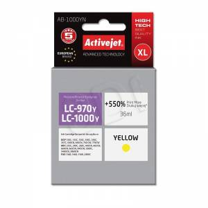 Tusz Activejet AB-1000YN (Brother LC1000Y/970Y) supreme XL 36ml yellow