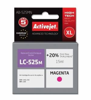 Tusz Activejet AB-525MN (Brother LC525M) supreme XL 15ml magenta