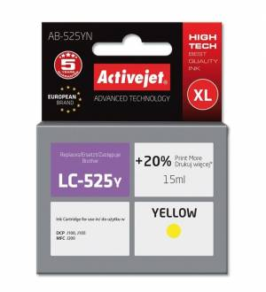 Tusz Activejet AB-525YN (Brother LC525Y) supreme XL 15ml yellow