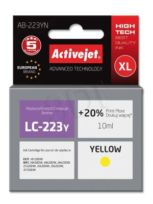Tusz Activejet AB-223YN (Brother LC223Y) supreme 10ml yellow