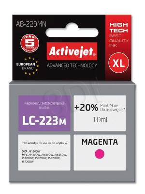 Tusz Activejet AB-223MN (Brother LC223M) supreme 10ml magenta