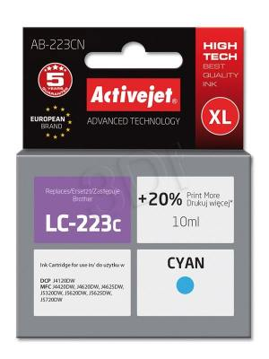Tusz Activejet AB-223CN (Brother LC223C) supreme 10ml cyan