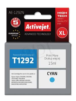 Tusz Activejet AE-1292N (Epson T1292) supreme XL 15ml cyan