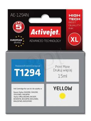 Tusz Activejet AE-1294N (Epson T1294) supreme XL 15ml yellow