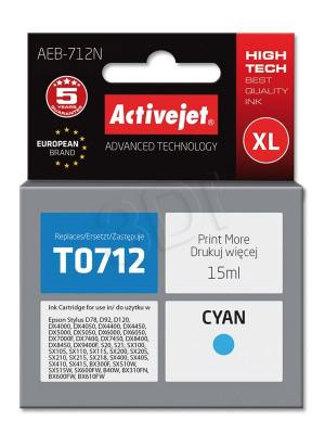 Tusz Activejet AEB-712N (Epson T0712 T0892 T1002) supreme XL 15ml cyan