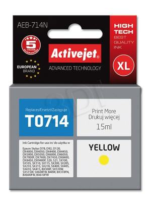 Tusz Activejet AEB-714N (Epson T0714 T0894 T1004) supreme XL 15ml yellow