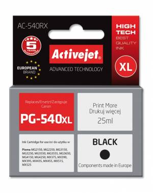 Tusz Activejet AC-540RX (Canon PG-540XL) premium 25ml czarny