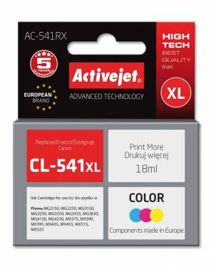 Tusz Activejet AC-541RX (Canon CL-541XL) premium 18ml trójkolorowy