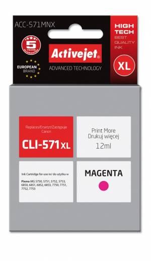 Tusz Activejet ACC-571MNX (Canon CLI-571M XL) supreme 12ml magenta Chip