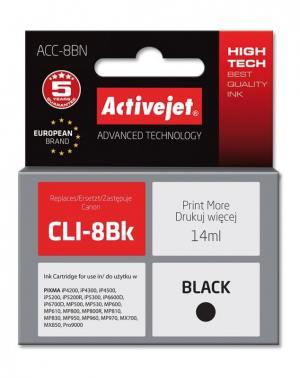 Tusz Activejet ACC-8BN (Canon CLI-8Bk) supreme 14ml czarny Chip