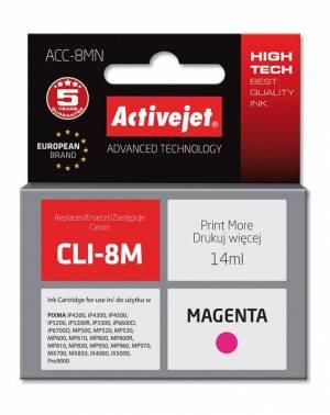 Tusz Activejet ACC-8MN (Canon CLI-8M) supreme 14ml magenta Chip