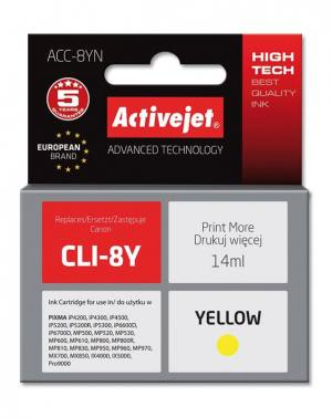 Tusz Activejet ACC-8YN (Canon CLI-8Y) supreme 14ml yellow Chip