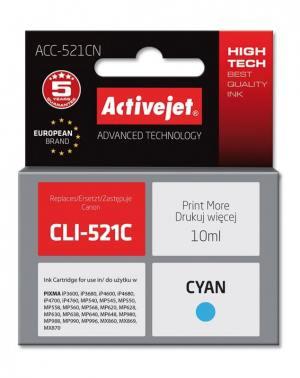 Tusz Activejet ACC-521CN (Canon CLI-521C) supreme 10ml cyan Chip