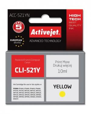 Tusz Activejet ACC-521YN (Canon CLI-521Y) supreme 10ml yellow Chip
