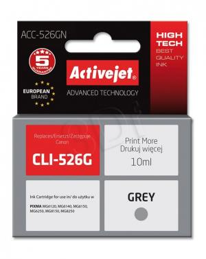 Tusz Activejet ACC-526GN (Canon CLI-526G) supreme 10ml grey Chip