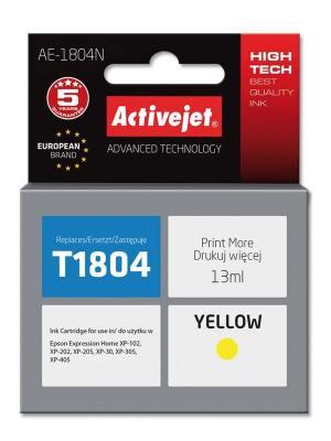 Tusz Activejet AE-1804N (Epson T1804) supreme 13ml yellow