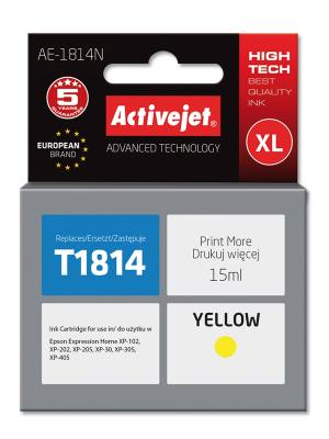 Tusz Activejet AE-1814N (Epson T1814) supreme XL 15ml yellow