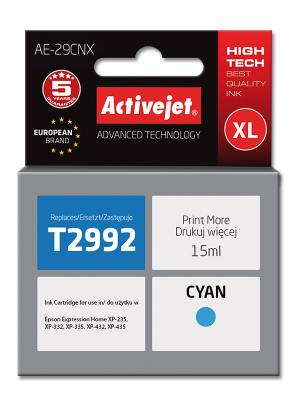 Tusz Activejet AE-29CNX (Epson 29XL T2992) supreme 15ml cyan Chip