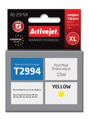 Tusz Activejet AE-29YNX (Epson 29XL T2994) supreme 15ml yellow Chip
