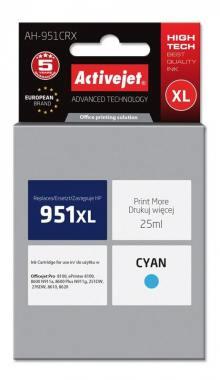 Tusz Activejet AH-951CRX (HP 951XL CN046AE) premium 25ml cyan Chip