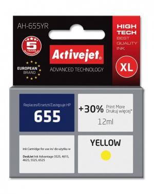 Tusz Activejet AH-655YR (HP 655 CZ112AE) premium XL 12ml yellow Chip