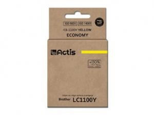Tusz Actis KB-1100Y (Brother  LC980/LC1100HY/LC65HY) standard 19ml yellow