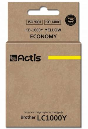 Tusz Actis KB-1000Y (Brother  LC1000Y/LC970Y) standard 36ml yellow
