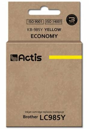 Tusz Actis KB-985Y (Brother  LC985Y) 19.5ml yellow