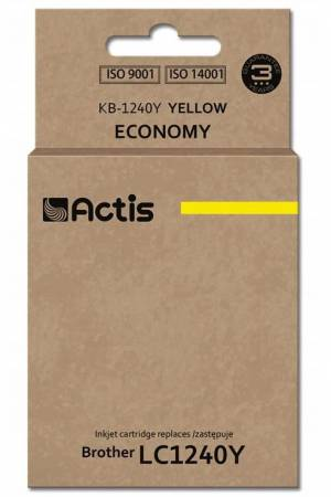 Tusz Actis KB-1240Y (Brother  LC1240Y/LC1220Y) standard 19ml yellow