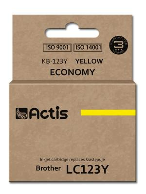 Tusz Actis KB-123Y (Brother  LC123Y/LC121Y) standard 10ml yellow