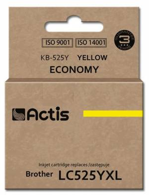 Tusz Actis KB-525Y (Brother  LC525Y) standard 15ml yellow