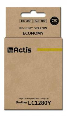 Tusz Actis KB-1280Y (Brother  LC1280Y) standard 19ml yellow