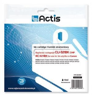 Tusz Actis KC-521BK (Canon  CLI-521BK) standard 10ml czarny Chip