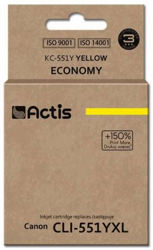 Tusz Actis KC-551Y (Canon  CLI-551Y) standard 12ml yellow Chip