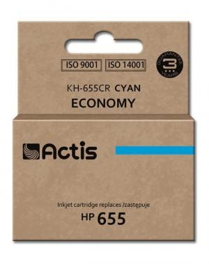 Tusz Actis KH-655CR (HP 655 CZ110AE) standard 12ml cyan Chip