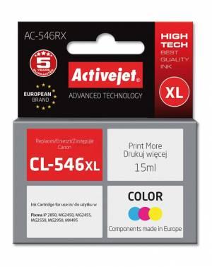 Tusz Activejet AC-546RX (Canon CL-546XL) premium 15ml trójkolorowy