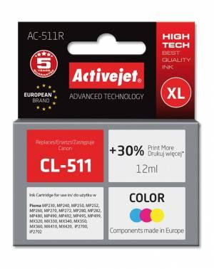 Tusz Activejet AC-511R (Canon CL-511) premium XL 12ml kolorowy