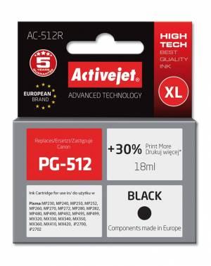 Tusz Activejet AC-512R (Canon PG-512) premium XL 18ml czarny