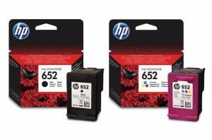 Zestaw 2 tusze HP 652 czarny F6V25AE + kolorowy F6V24AE