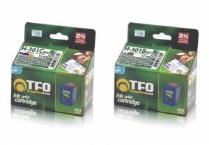Zestaw TFO 2x HP 301 czarny 17ml + kolor 15ml
