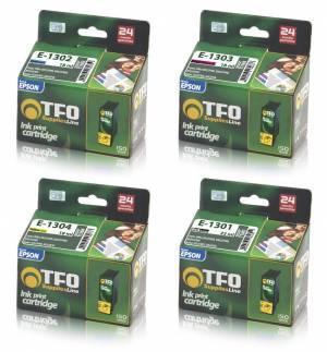 Zestaw TFO 4 tusze Epson CMYK T1301 - T1304
